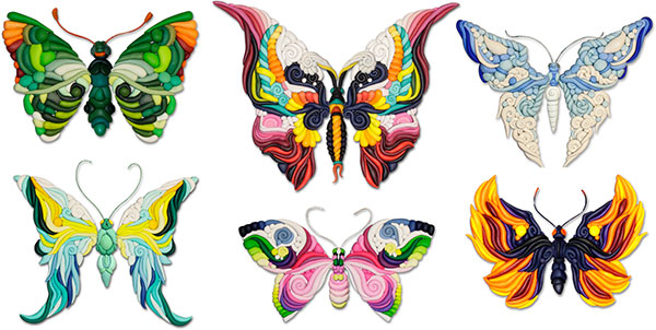 Inoue butterflies